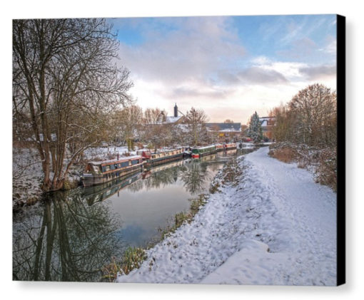 Winter Reflections - Photograph on Canvas