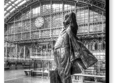 Admiration - Sculpture of Sir John Betjeman at St. Pancras Station - Photograph on Canvas