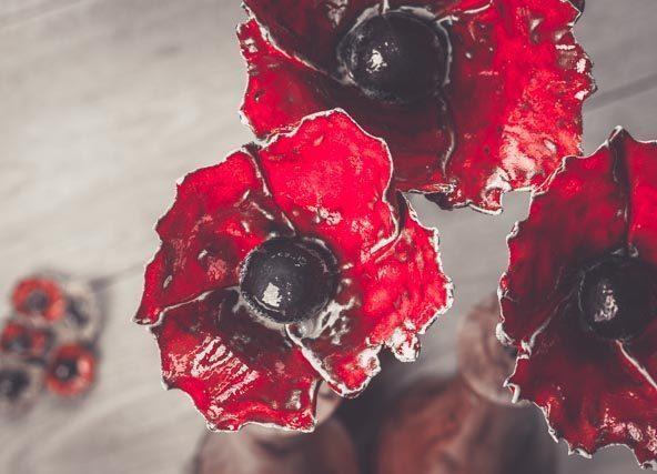 Ceramic poppy by Amanda Westbury