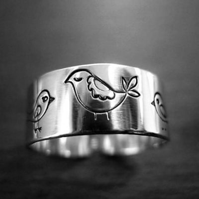 CH03 - Partridge sterling silver ring