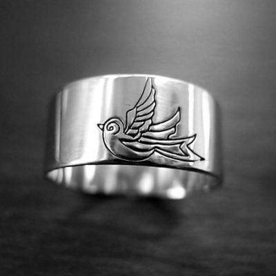 CH04 - Swallow sterling silver ring