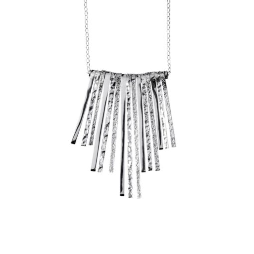 CL165 - Symmetrical sterling silver necklace