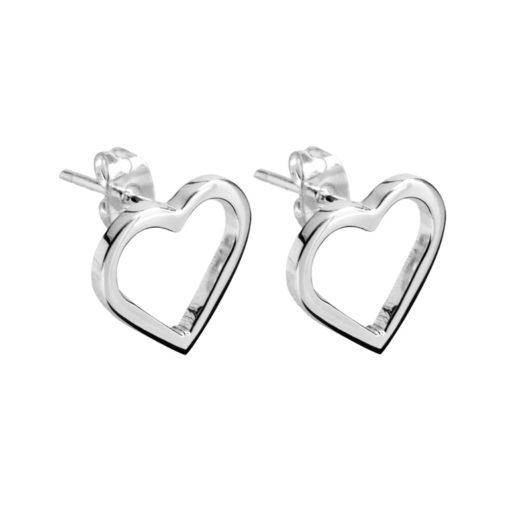CL202 - Eternity heart sterling silver studs