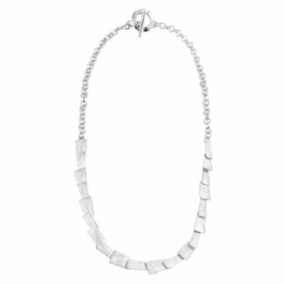 Handmade Geometric Sterling Silver Necklace