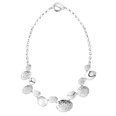 CL300 - Stepping stone sterling silver necklace