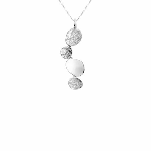 CL302 - Stepping stone sterling silver pendant