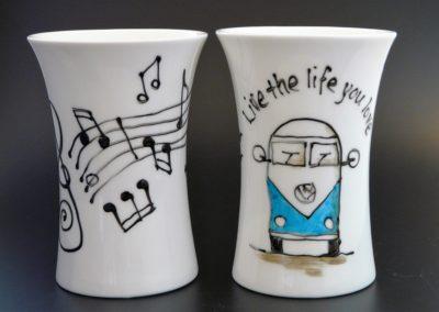 Hipster Bone China Mugs
