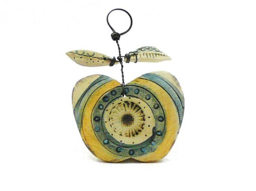 Shirley Vauvelle ceramic apple wall hanging