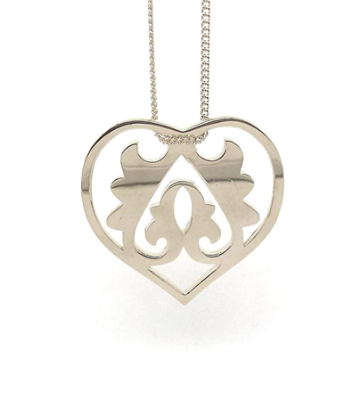 Handmade Ace of Heart Silver Sterling Necklace