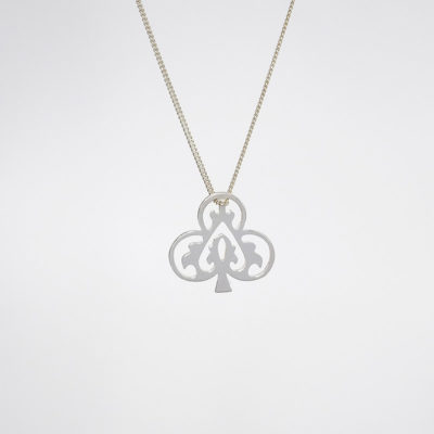 Handmade Sterling Silver - Ace of Club necklace