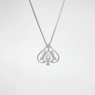 Handmade Sterling Silver - Silver Ace of Spade necklace