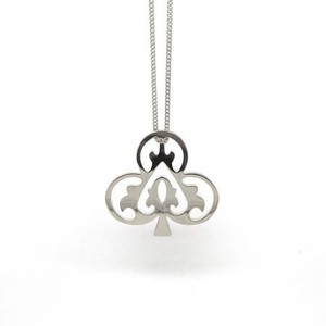 Handmade Ace of Club Sterling Silver Necklace