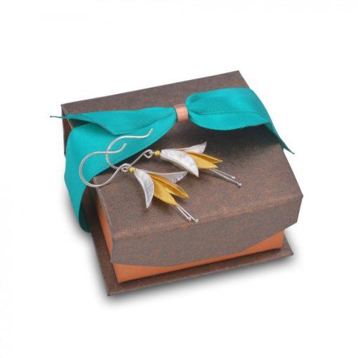 Fuchsia Earrings - Silver & 18ct Gold Plate