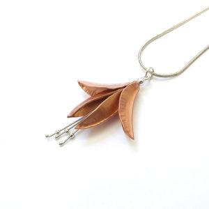 Copper Fuchsia Pendant