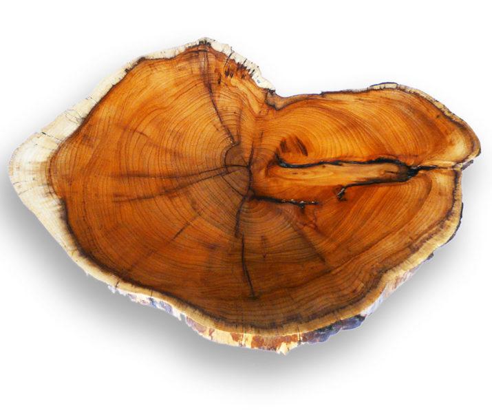 Beutiful hand turned English Yew wood dish