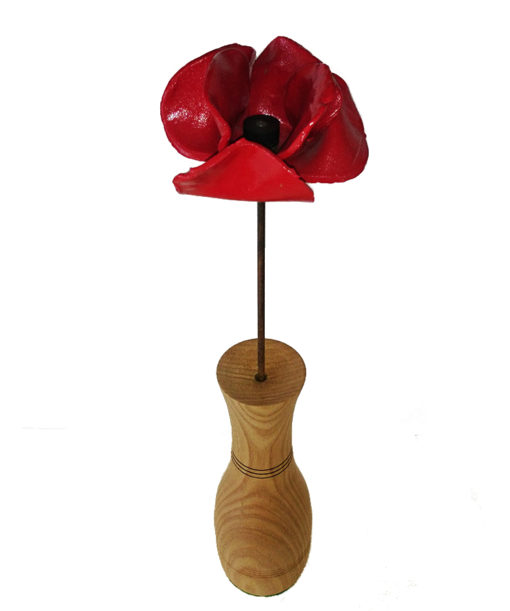 Wooden Vase for Tower of London Poppies