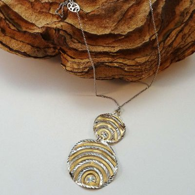 Sterling Silver Rhodium & Gold Plated Necklace