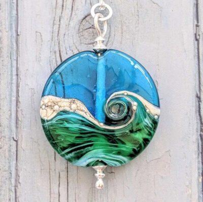 Deep Blue Sea Lentil necklace