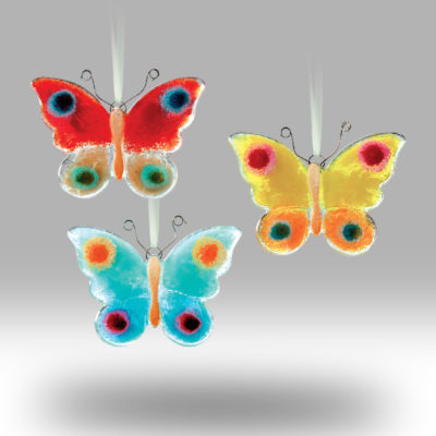 Fused Glass Hanging Butterfly