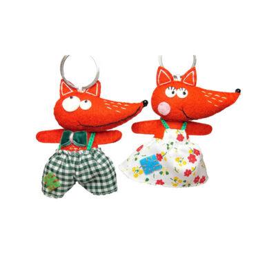 Handmade felt Foxes (pair)