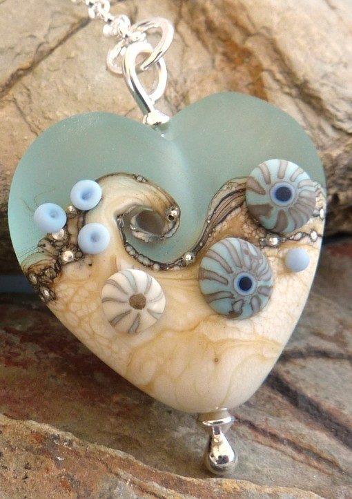 Sea Spray Heart Pendant