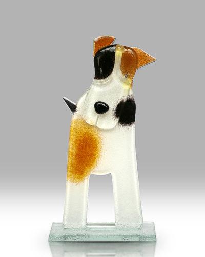 Handmade Fused Glass Terrier