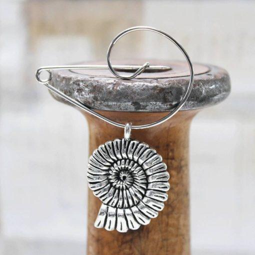 Contemporary Seashell Brooch