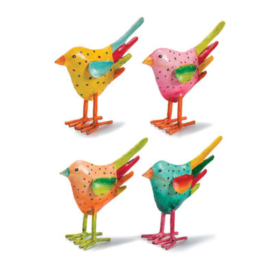 Hand painted dotty standing bird