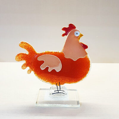 Handmade Fused Glass Hen