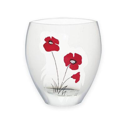 Classic Poppy Glass Curve Vase