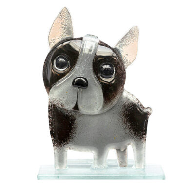 Handmade Fused Glass French Bulldog