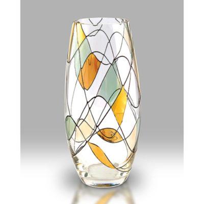 Gold Mosaic Glass Vase