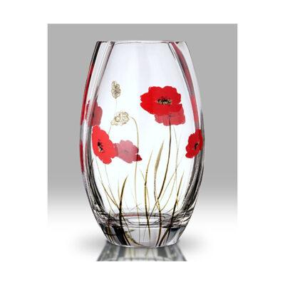 Poppy Fields Glass Round Vase
