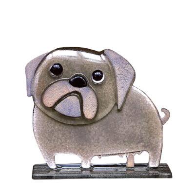 Handmade Fused Glass Pug