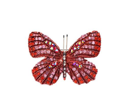 Red butterfly brooch/pendant