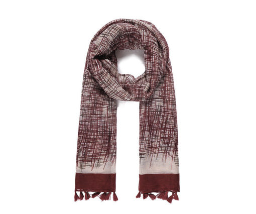 Wine abstract print scarf