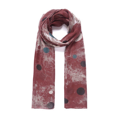 Rust batik look scarf