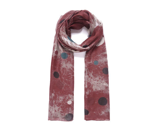 Rust batik look scarf