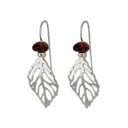 Handmade Sterling Silver Amber Earrings