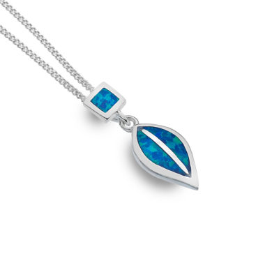 Handmade Sterling Silver Opal Necklace