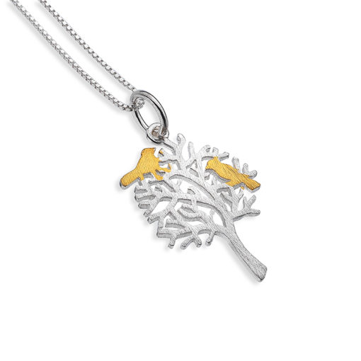 Handmade Bird's Home Sterling Silver Necklace