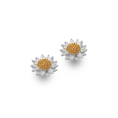 Glowing sunflower studs