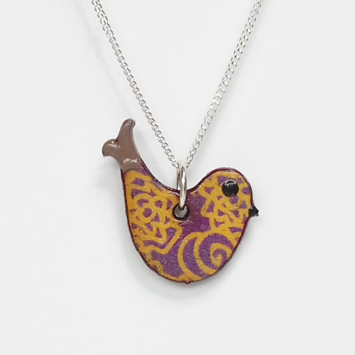 Handmade Wooden Bird Necklace