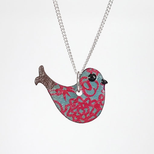 Handmade Wooden Bird Necklace