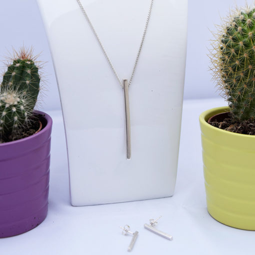 Handmade Sterling Silver Straight Necklace