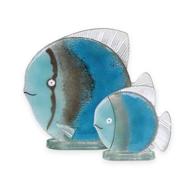 Handmade Fused Glass Fish Blue