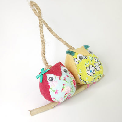 handmade fabric owls