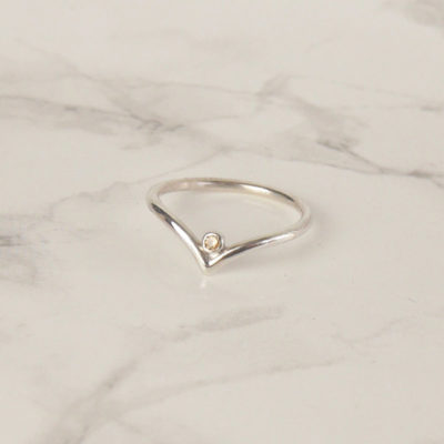 Wishbone Swarovski Ring
