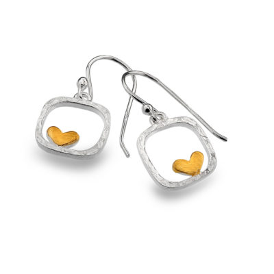 Framed Heart Earrings