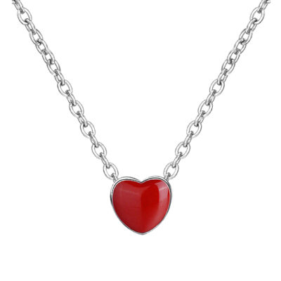 Silver Red-Heart necklace